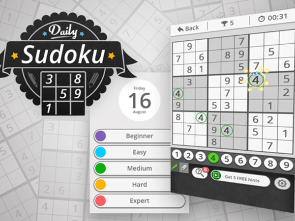 Bild zu Denken-Spiel Daily Sudoku 2