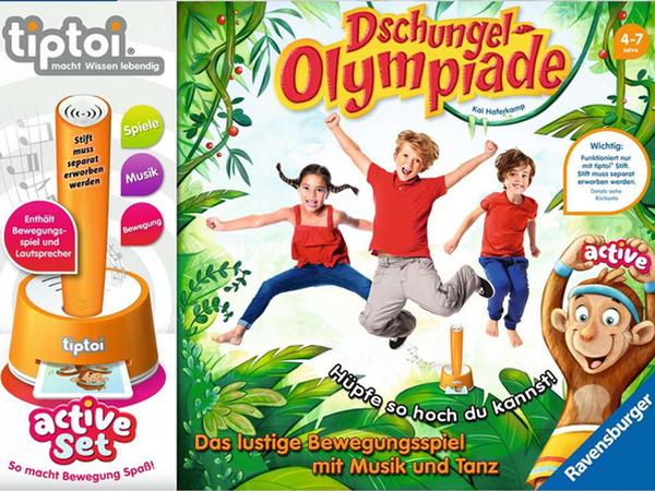 Bild zu Alle Brettspiele-Spiel tiptoi® Dschungel Olympiade