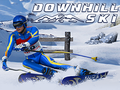 Geschick-Spiel Downhill Ski spielen