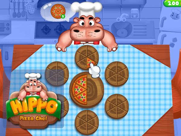 Bild zu Action-Spiel Hippo Pizza Chef