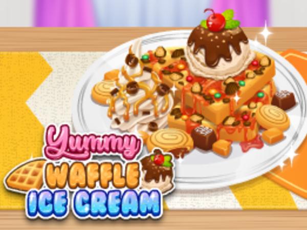 Bild zu Mädchen-Spiel Yummie Waffle Ice Cream
