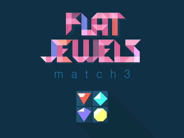 Bild zu Denken-Spiel Flat Jewel Match 3
